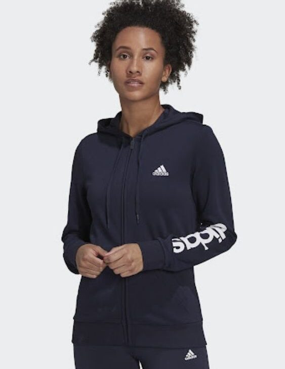 bluza adidas treningowa z kapturem czarna
